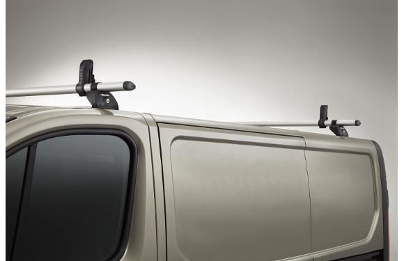 Lastenträger KammBar für Peugeot Partner, Bj. 2008-2018, Normaldach ohne Dachklappe, mit Fixpunkt-Montage ohne Dachreling, 2er Set