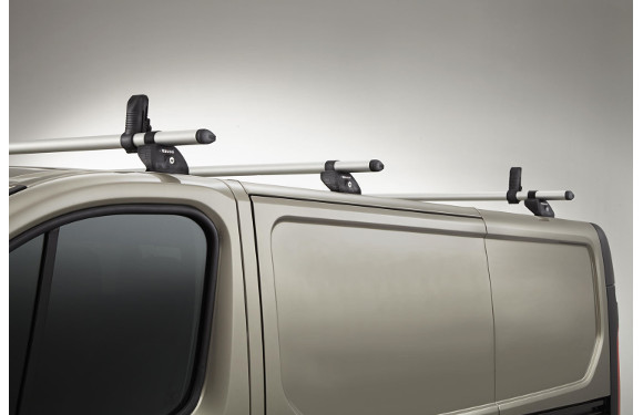Lastenträger KammBar für Mercedes-Benz Citan Extralang, Bj. ab 2012, Normaldach ohne Dachklappe, mit Fixpunkt-Montage ohne Dachreling, 3er Set