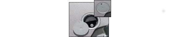 Zurrmulden (rund) zur Fußbodenmontage, mit Klettband, für Mercedes-Benz Vito, Bj. ab 2014, 4er Pack