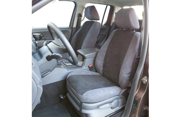 Sitzbezug für Volkswagen Amarok Doppelkabine, Bj. ab 2010, Alcanta, Dreierbank mit Sitzfläche 1/3 zu 2/3 hochklappbar 2. Reihe