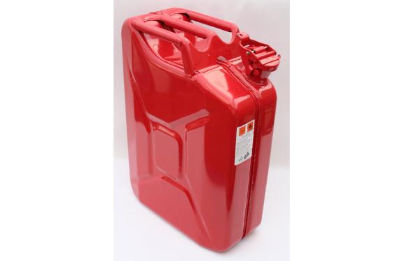 Benzinkanister, 20 Liter, Metall, feuerrot