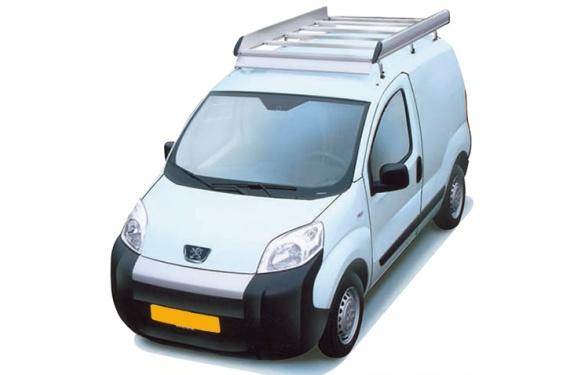 Dachgepäckträger aus Aluminium für Peugeot Bipper