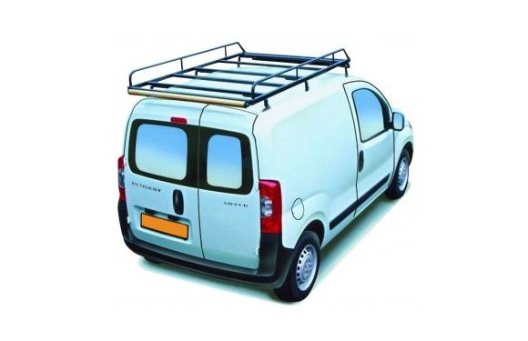 Dachgepäckträger aus Stahl für Peugeot Bipper, Bj. ab 2008, Radstand 2513mm, Normaldach, mit Hecktüren