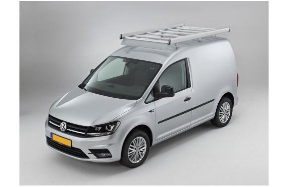 Dachgepäckträger aus Aluminium für Volkswagen Caddy, Bj. ab 2015, Radstand 2682mm, ohne Dachklappe, mit Hecktüren