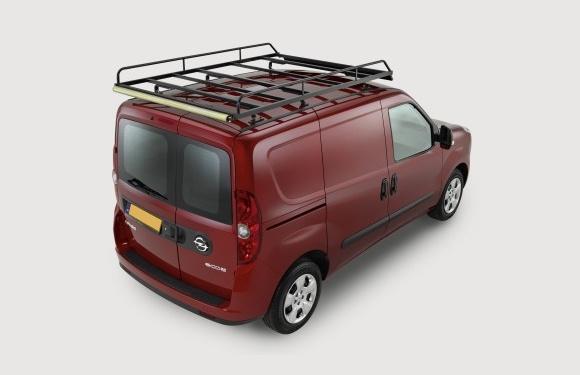 Dachgepäckträger aus Stahl für Opel Combo, Bj. 2011-2018, Radstand 2755mm, L1, Normaldach, mit Hecktüren