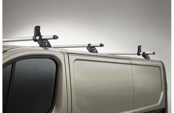 Lastenträger KammBar für Renault Kangoo Maxi, Bj. ab 2008, Normaldach ohne Dachklappe, mit Fixpunkt-Montage ohne Dachreling, 3er Set