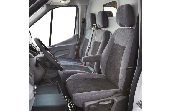 Sitzbezug für Ford Transit, Bj. ab 2014, Alcanta, Einzelsitz (Fahrer- oder Beifahrersitz) ohne Seitenairbag
