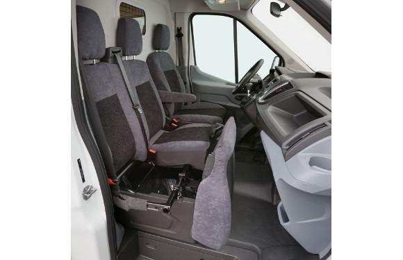 Sitzbezug für Ford Transit, Bj. ab 2014, Alcanta, Doppelbank vorn ohne Seitenairbag
