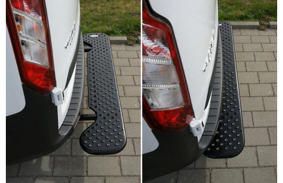 Ausziehbare Hecktrittstufe für Ford Custom, Bj. ab 2012, ohne Anhängerkupplung