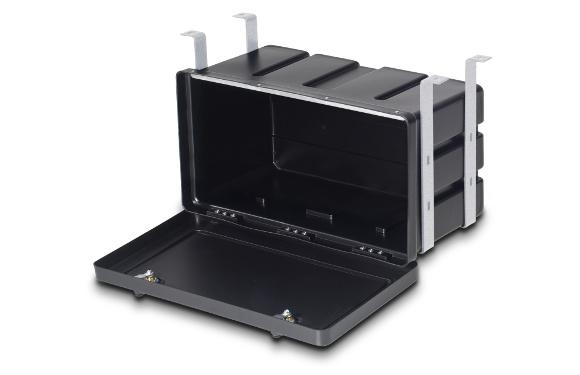 Unterbau-Werkzeugkasten, BxHxT: 650x350x290mm, 2-Punkt-Verriegelung mit Sicherheits-Drehriegel